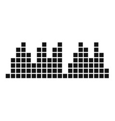 equalizer play radio icon simple black style vector image vector image