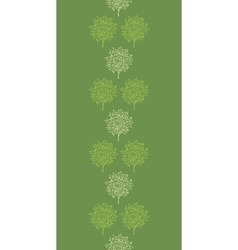 Green trees stripes vertical seamless pattern vector image