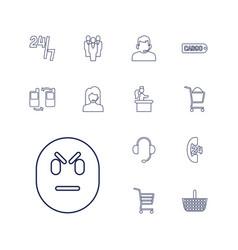 13 customer icons vector