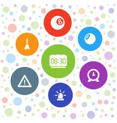 7 alarm icons vector