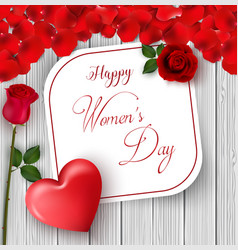 8 march international happy womens day card vector image