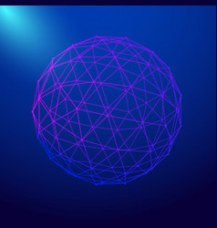 abstract sphere shape vector image