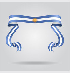 argentinean flag wavy ribon background vector image