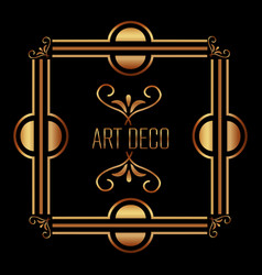 art deco background geometric adornment abstract vector image