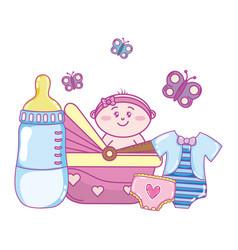 Baby shower cartoon vector