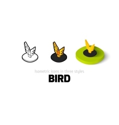 Bird icon in different style vector