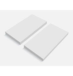Blank business cards for promotion ci vector