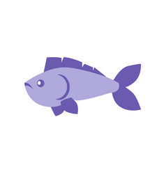 blue fish vertebrate animal vector image