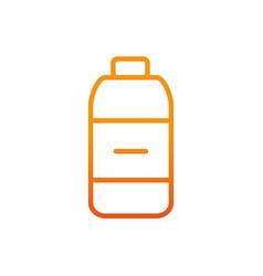 bottle sport gym fitness gradient line vector image