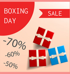 boxing day special sale concept background vector image
