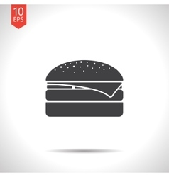 burger icon Eps10 vector image
