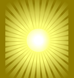 Burst golden background yellow glowing rays from vector