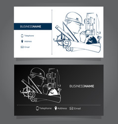 business card surveyor vector image