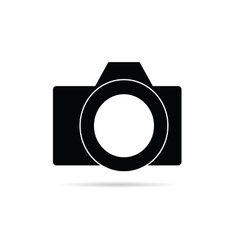 camera icon in black vector image