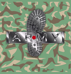 camouflage army boot vector image