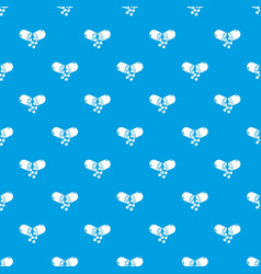 capsule pill pattern seamless blue vector image