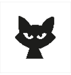 cat in pixel design vector image