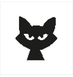 Cat in pixel design vector
