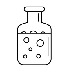 Chemical substance pot icon outline style vector