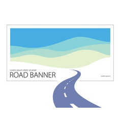 Country road curved highway perfect design the vector