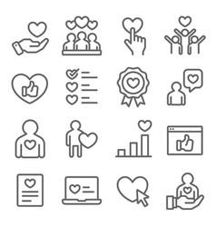customer feedback icons set c vector image