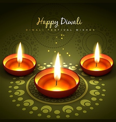 diwali greeting design vector image