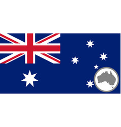 flag and map australia vector image