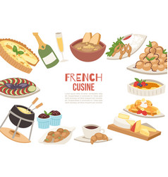 french cuisine french cheese vector image
