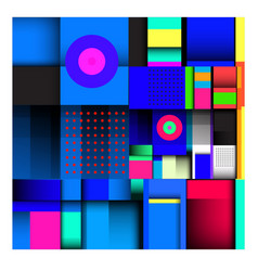 Geometric colorful memphis pattern for fabric vector
