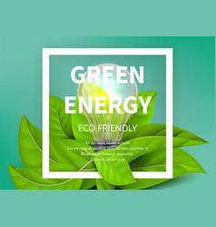green energy background eco light bulb green vector image