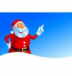 happy Santa on winter background vector image