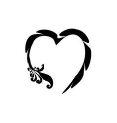heart black on white background sign symbol vector image