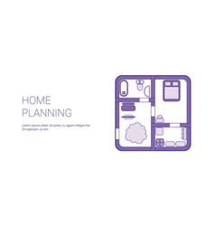 home planning template web banner with copy space vector image