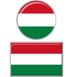 Hungarian round and square icon flag vector image