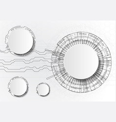 infographics with circles technology on white vector image