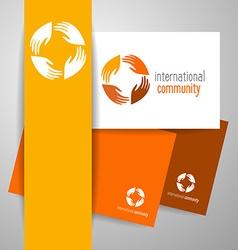 international community vector image