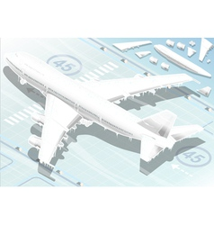 Isometric Frozen Airplane in Rear View vector image
