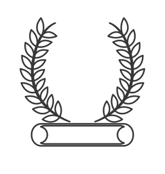 laurel wreath emblem icon vector image