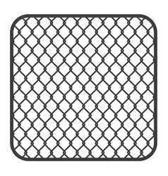 Metal fence wire mesh vector