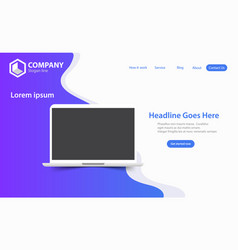 New trendy seo optimization website landing page vector