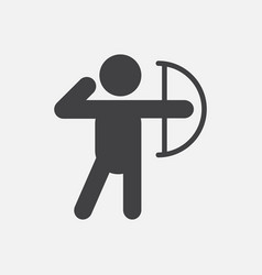 olympic games archery player athlete icon vector image