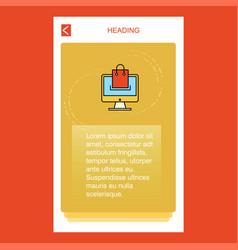 online shopping mobile vertical banner design vector image