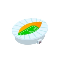 Oval fotball stadium 3d icon vector