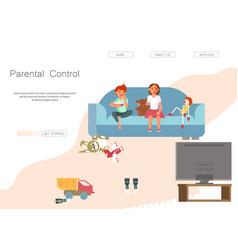 Parental control website vector