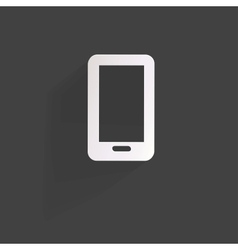 Phone web iconflat design vector image