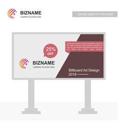 Professional bill board ad design with banner vector