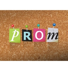 Prom Concept vector image