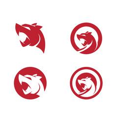 puma logo design vector image