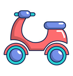 Scooter icon cartoon style vector