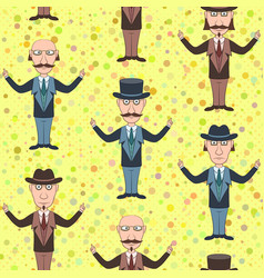 seamless background with gentleman vector image
